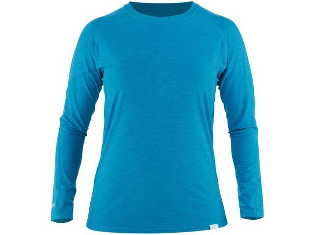 NRS H2Core Silkweight Camiseta Manga Larga Mujer, azul